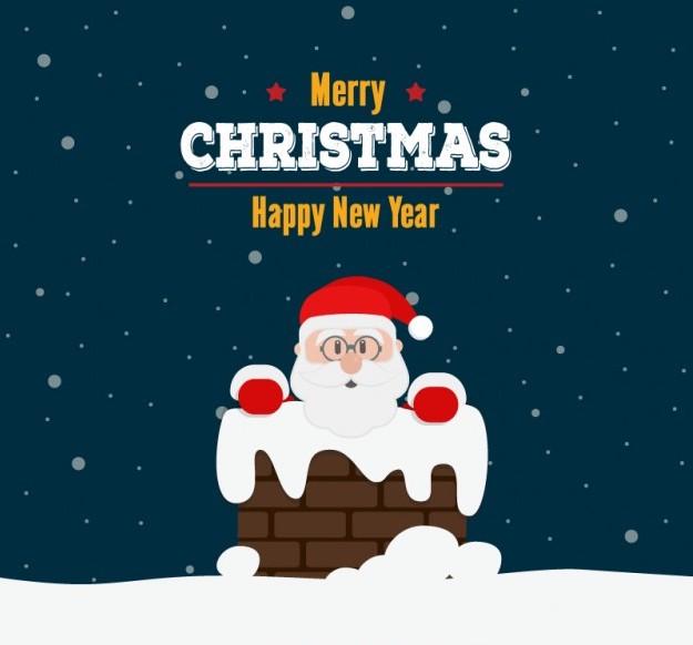 christmas-card-with-santa-and-chimney_23-2147500221